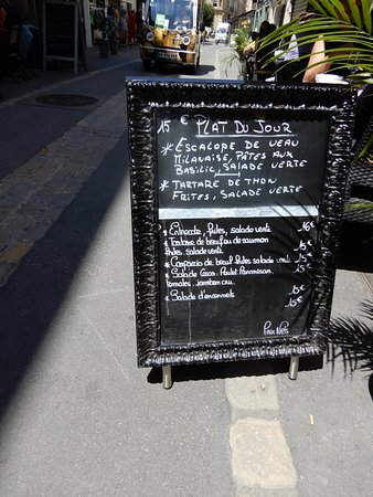 Blackboard menu with specials