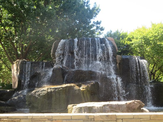 The waterfall at the entrance