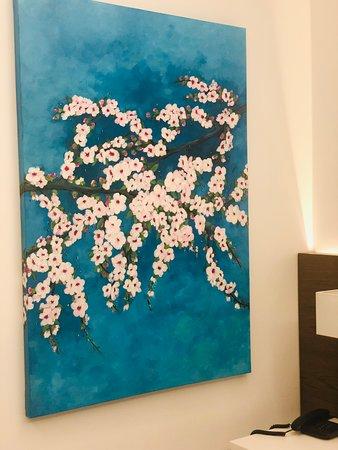 Acroter Hotel Datça Odamdaki Badem Çiçekleri muhteşem