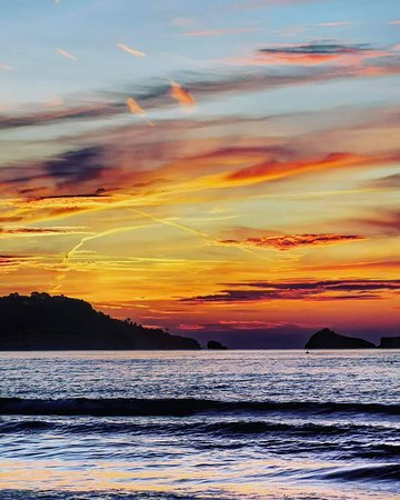 Sunrise from the sea-View rooms over Preston Beach at Channel View, Boutique Beachfront Hotel on the English Riviera. Book Direct on 01803522432 for the best rates.