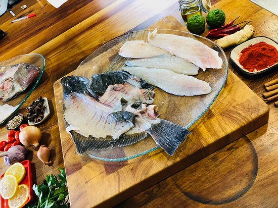 Trupp- The Chefs Table Cooking School: Fish Essentials class held on the weekend 9 am to 2.30pm teaches you how to choose, store, scale, fillet and prepare fresh fish.