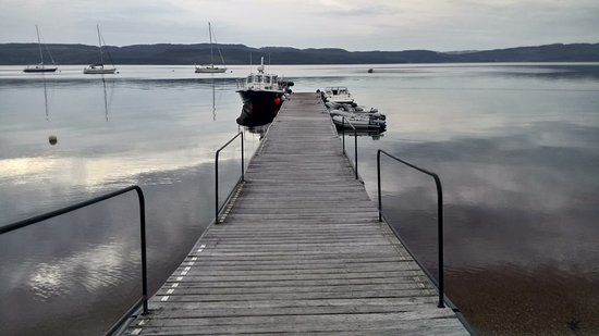 Otter Ferry jetty - at the front of the Oystercatcher restaurant.