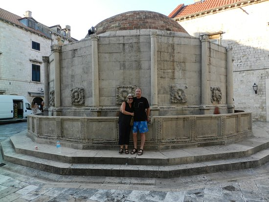 Cold Refreshing Drinking Water At The Onofrio Fountain On The West End Of The Stradun