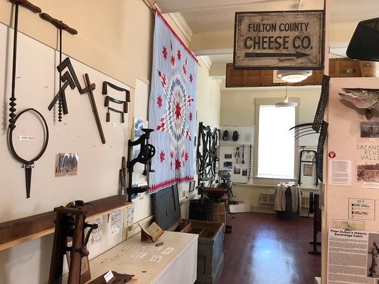 Fulton County Historical Society and Museum: Fulton County Museum -  cheese exhibit