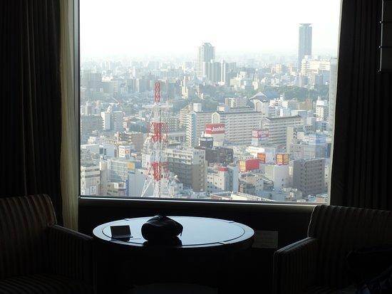 Swissotel Nankai Osaka: Looking out whilst enjoying a cup of tea