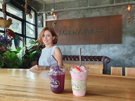 inside Meena Cafe.