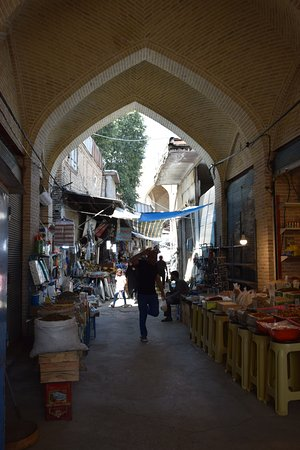 View of one of the market alleys