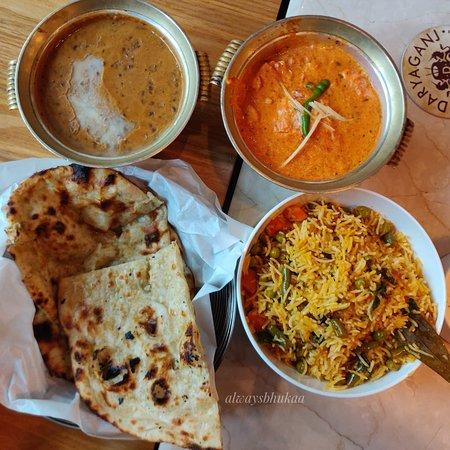 Dal Makhani, Veg Briyani , Butter Paneer and breads