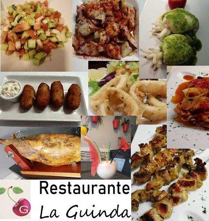 Tenerife, Španielsko: VARIEDAD Y SABOR!!  En Restaurante La Guinda tenemos una gran variedad de platos, desde bacalao encebollado, chocos en mojo, pulpo a la gallega, jamón serrano, tortillas…Para todos los gustos. El ingrediente en común es la pasión por la comida, y eso se nota.  Te esperamos!!!