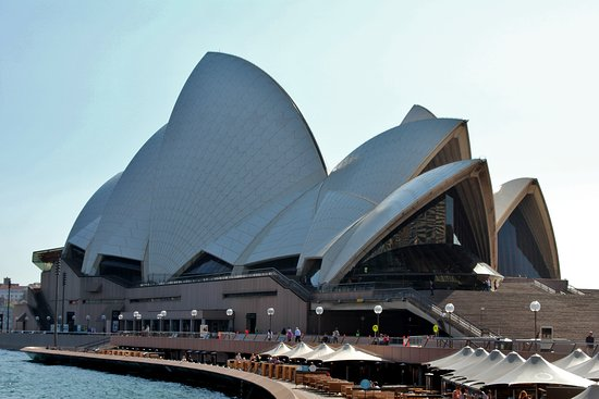 Walking up to the Opera House