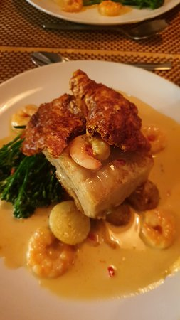 Eamonn's 38 Newport: Pork Belly and Prawns