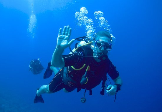 Colona Divers Marsa Alam: Bernhard, my dive buddy for the day.