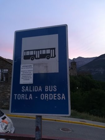 Lugar de salida del autobús hacia la Pradera de Ordesa