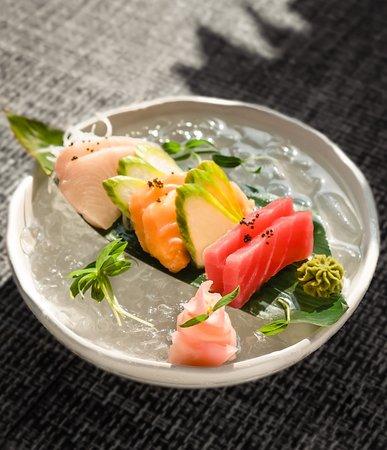 A platter of iced Sashimi