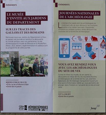 Le programme de la saison culturelle au musée d'archéologie et d'histoire