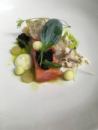 Sea Trout, Crab, Lovage, Caviar