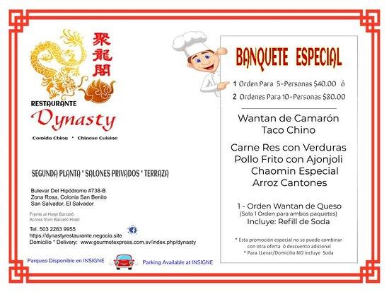 Restaurante Dynasty: Banquete Especial