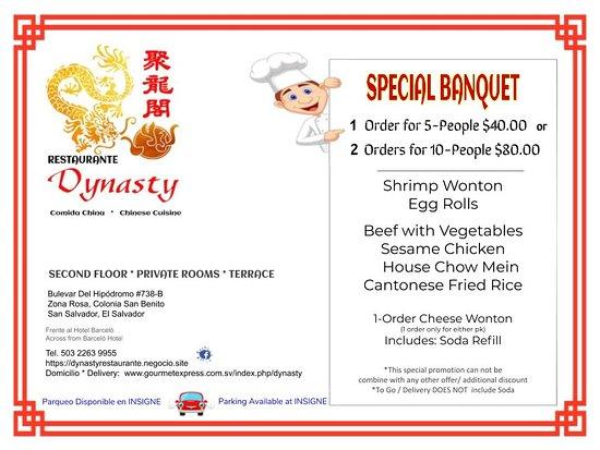 Restaurante Dynasty: Special Banquet