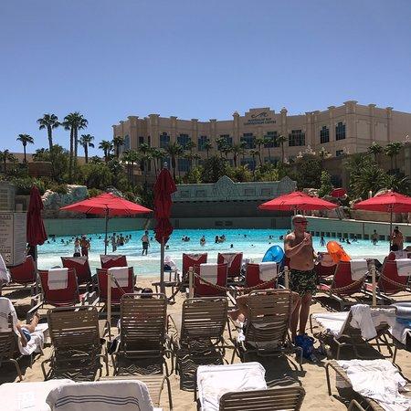 View From Cabana 25 Picture Of Mandalay Bay Beach Las Vegas Tripadvisor