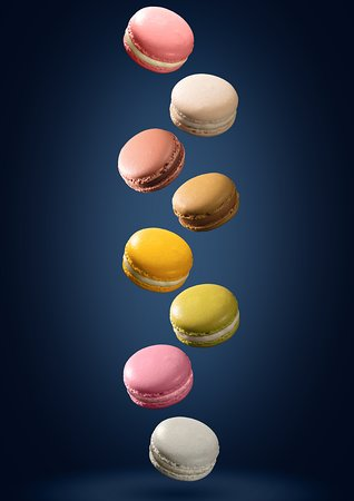 Assorted Macaroon (Apricot, Vanilla, Black Sesame, Cassis, Chocolate, Coffee, Yuzu, Rose) at DONDO BY BUS GRILL PAFC MALL