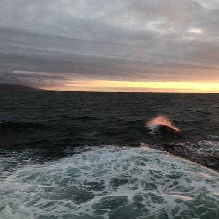 Sunset Cruising across the Bering Sea