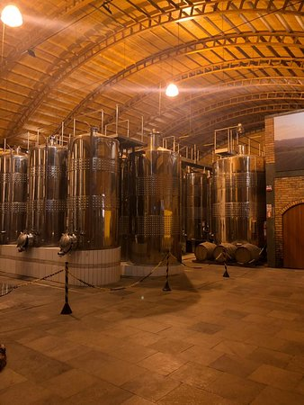 tanques no interior da vinicola