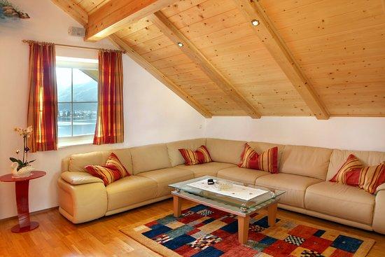 Gemütliche Sitzecke im Apartment Seerose