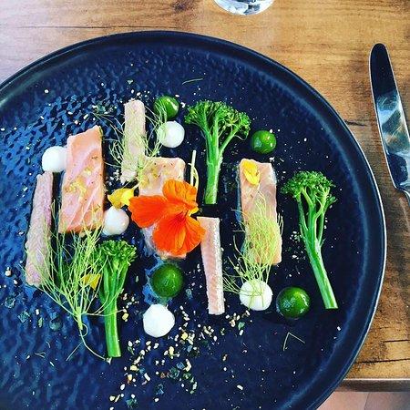 Rijkevoort, Nederland: salmon and eel