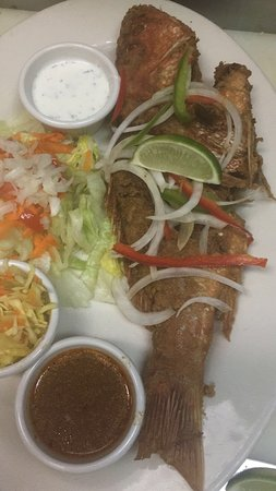 fried red whole snapper with our seasoning make to order everyday
