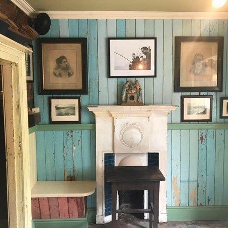 Traditional Irish pub with old style interior