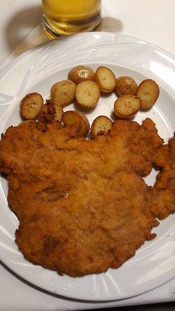 wiener schnitzel con patate
