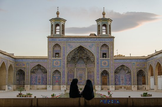 The courtyard of Nasir-ol-molk mosque in Shiraz.