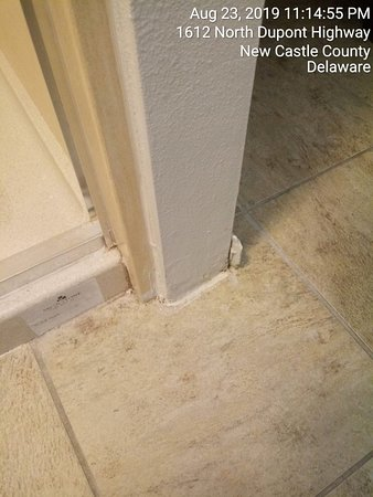 Unfinished and unsafe baseboard