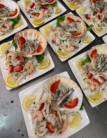 Seafood salad..