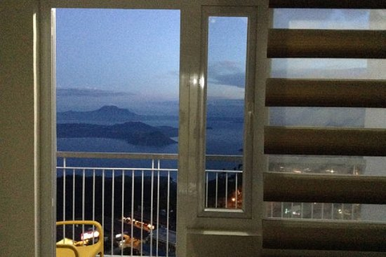 Night time view of Taal lake from apartment private balcony