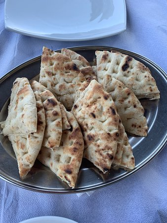 Taverna Sunrise: Tzaziki with freshly prepared pita bread