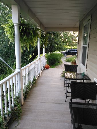 A very nice long porch.