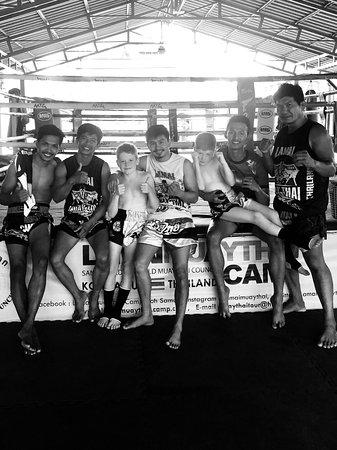 Kids training at Lamai Muay Thai camp