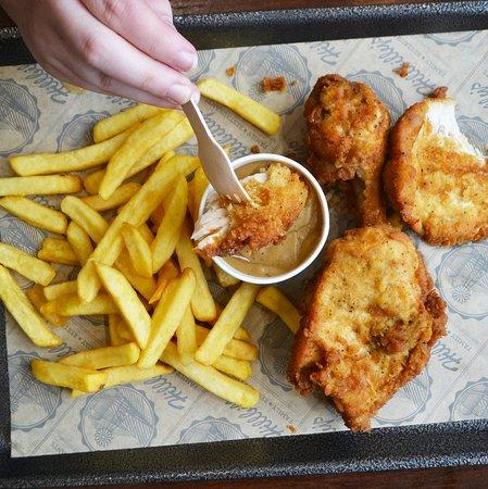 Dipping Chicken in Gravy