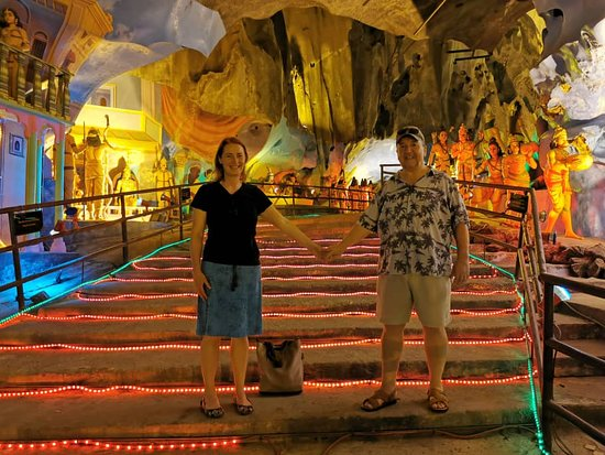Private Half-Day Batu Caves Waterfalls and Hot Springs Tour: Inside the cave where the sculptures are