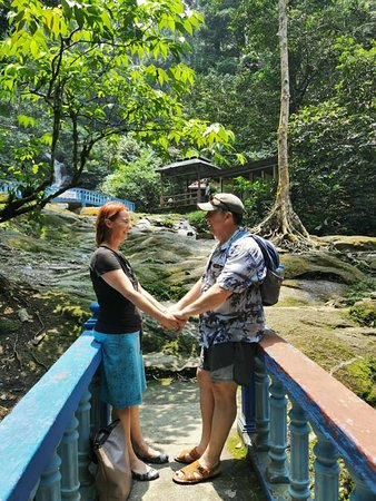 Private Half-Day Batu Caves Waterfalls and Hot Springs Tour: Walking back down