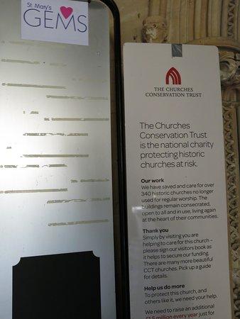 information inside main doorway...
