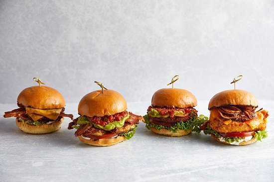 A selection of our bangin' burgers