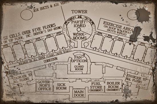 The Old Town Jail: Floor Plan