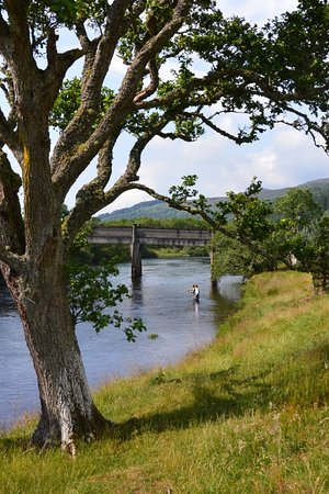 Fly fishing on the river Beauly