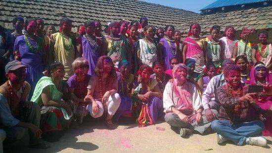 Дальне-Западный регион, Непал: Bhim and the guests in Far West Nepal during Holi festival
