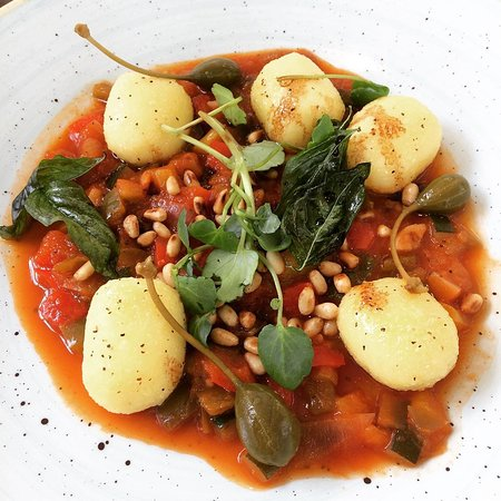 Mediterranean vegetables with olives and stuffed gnocchi #nomnom  See my review of the Oakfield at Chester Zoo below
