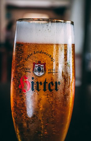 Austrian beer Hirter on tap