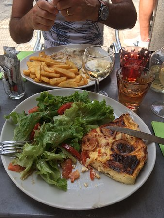 Croque Madame Served With Salad Picture Of Festicafe Avignon Tripadvisor