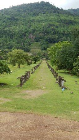 Γουάτ Πχου: 長い参道に居並ぶ「リンガ」